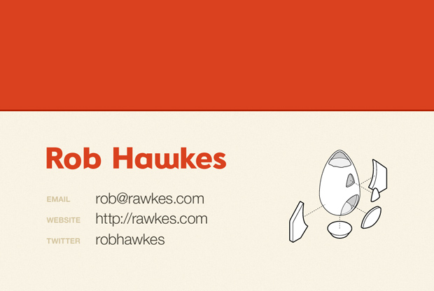 The best business card in the world rawkes rear design for the rawkes business card colourmoves