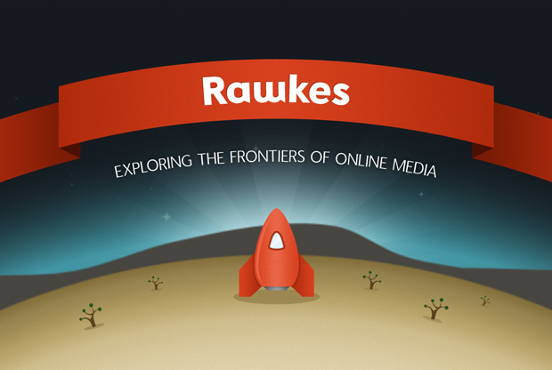 Front design for the Rawkes business card