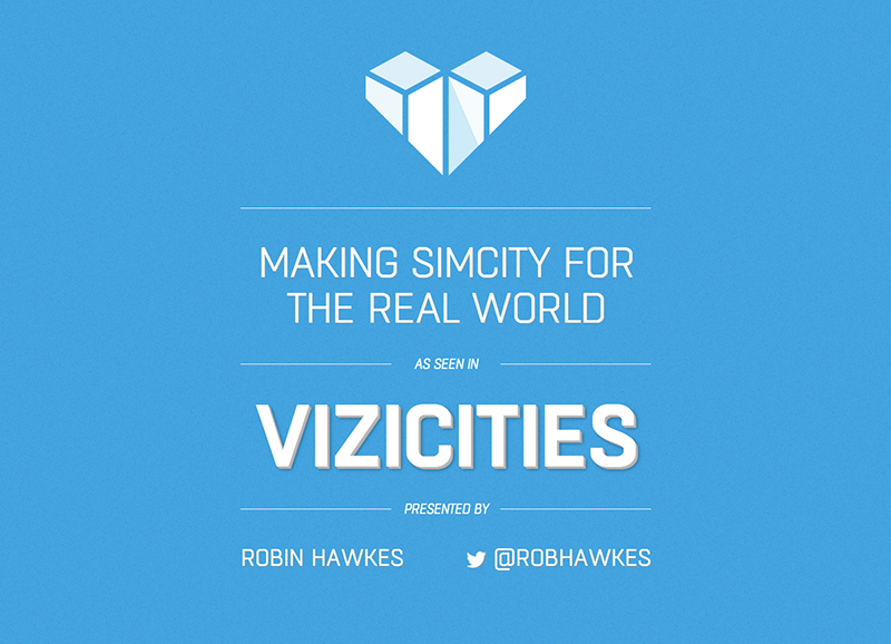 Title slide for a recent ViziCities talk