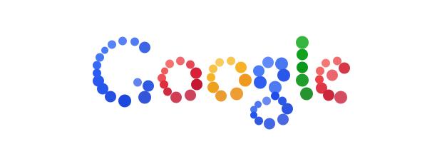 Google's bouncing balls logo