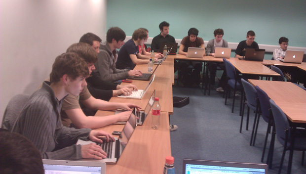 Some of the hack night attendees