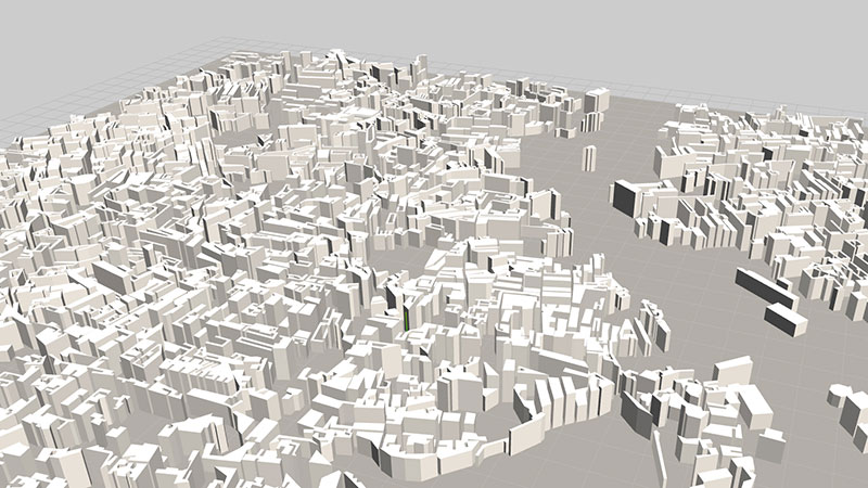 ViziCities: Building objects