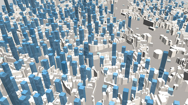ViziCities: Data layer bars & buildings