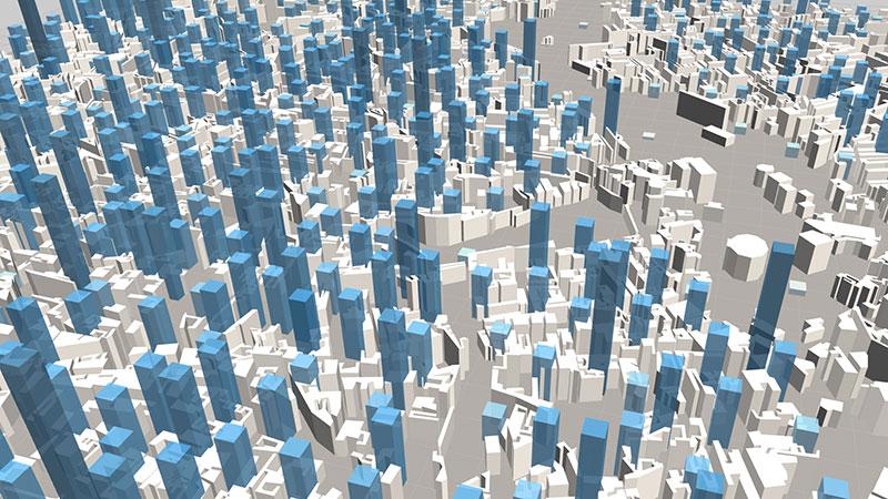 ViziCities: Data layer bars & buildings