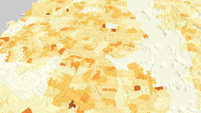 ViziCities: Data layer choropleth & buildings