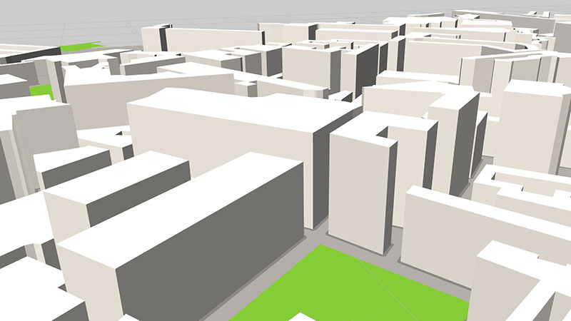 ViziCities: Road buildings