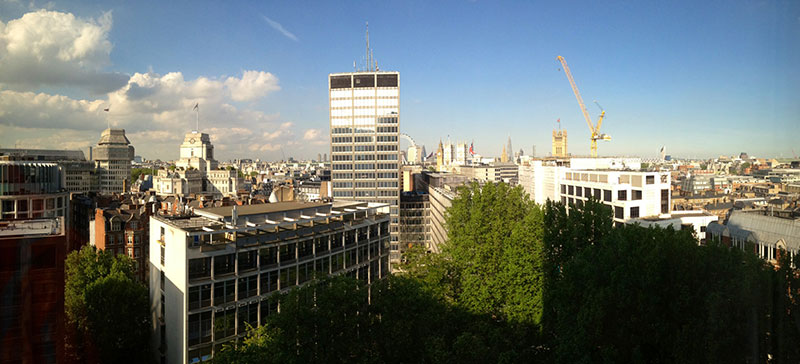 View from the TfL offices