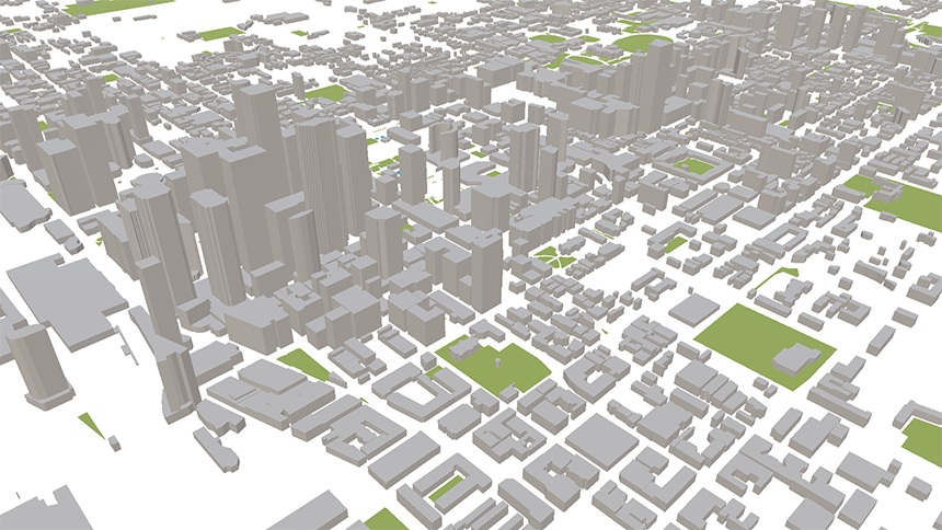 View of Toronto within ViziCities